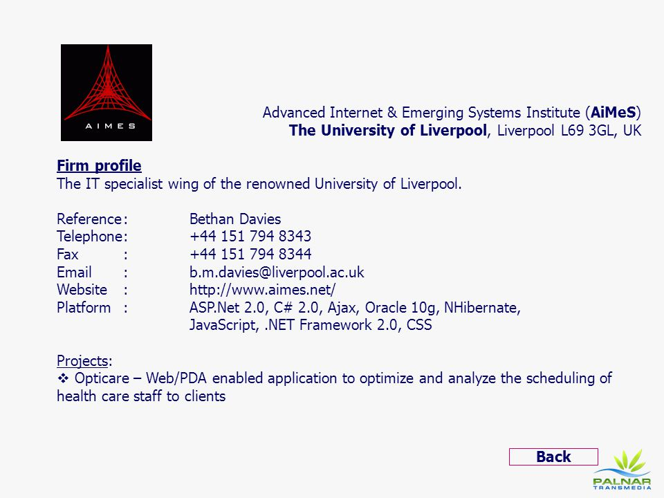 Advanced Internet & Emerging Systems Institute (AiMeS)