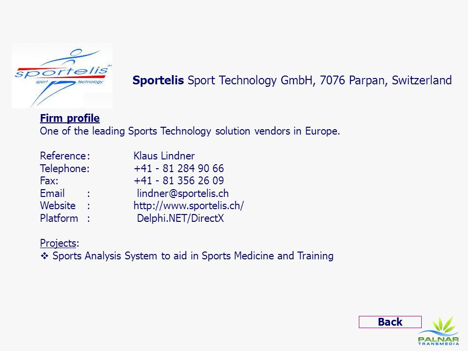 Sportelis Sport Technology GmbH, 7076 Parpan, Switzerland
