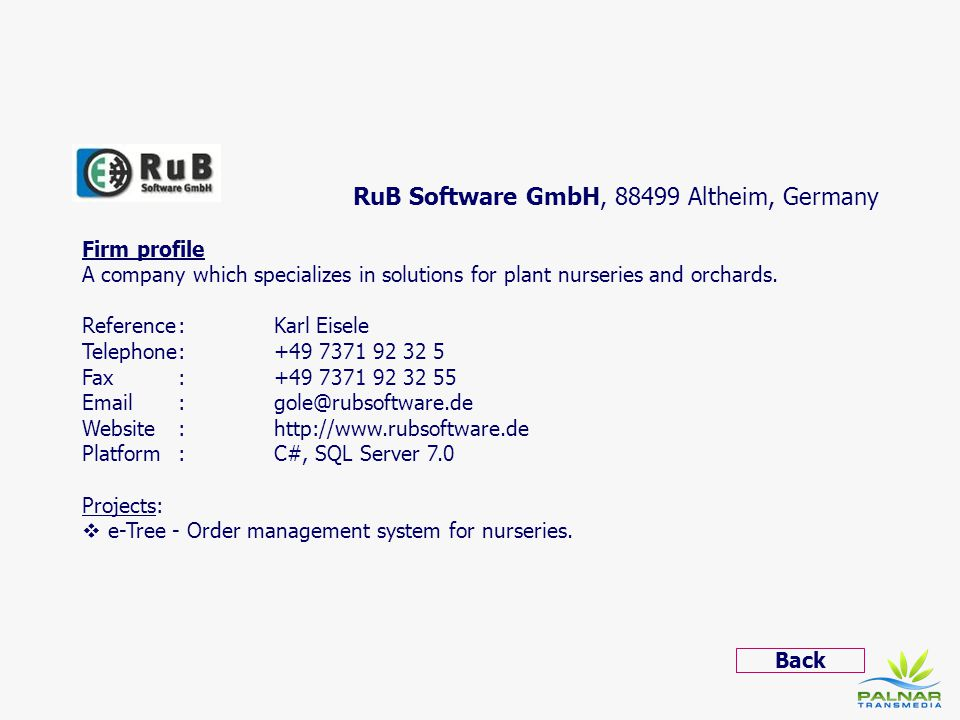 RuB Software GmbH, 88499 Altheim, Germany
