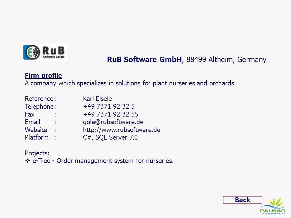 RuB Software GmbH, 88499 Altheim, Germany