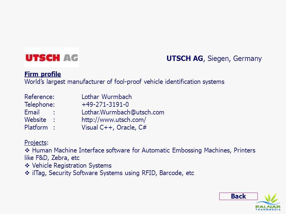 UTSCH AG, Siegen, Germany