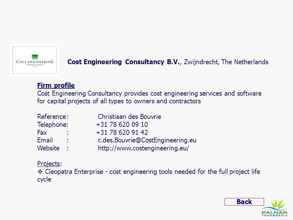 Cost Engineering Consultancy B.V., Zwijndrecht, The Netherlands