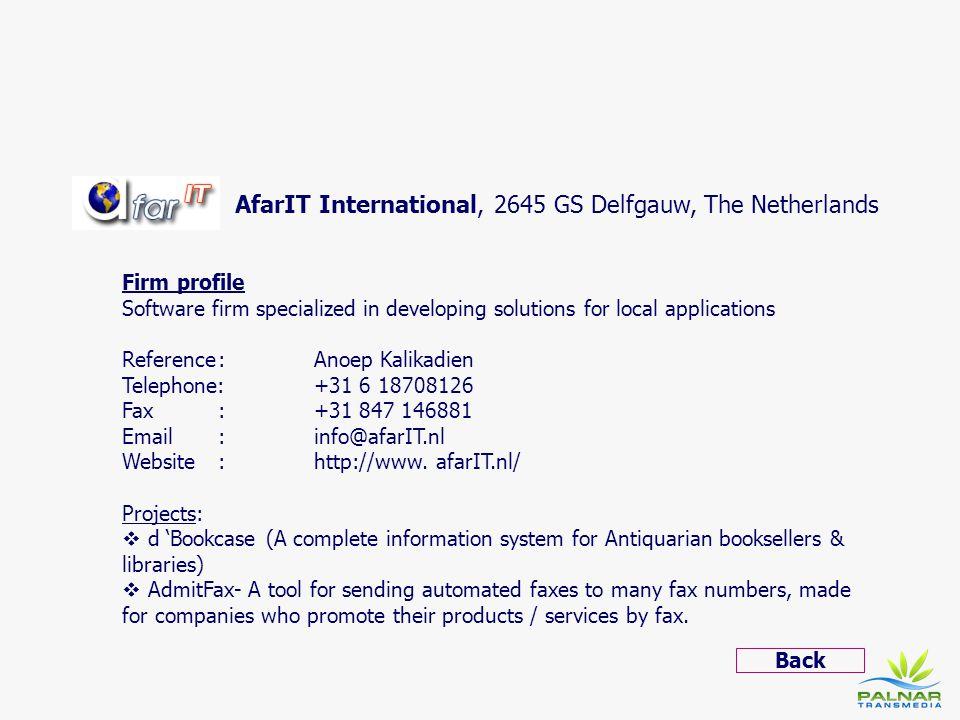 AfarIT International, 2645 GS Delfgauw, The Netherlands