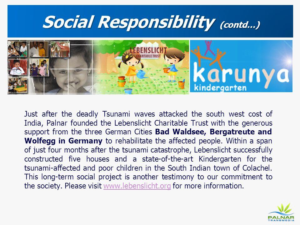 Social Responsibility (contd…)