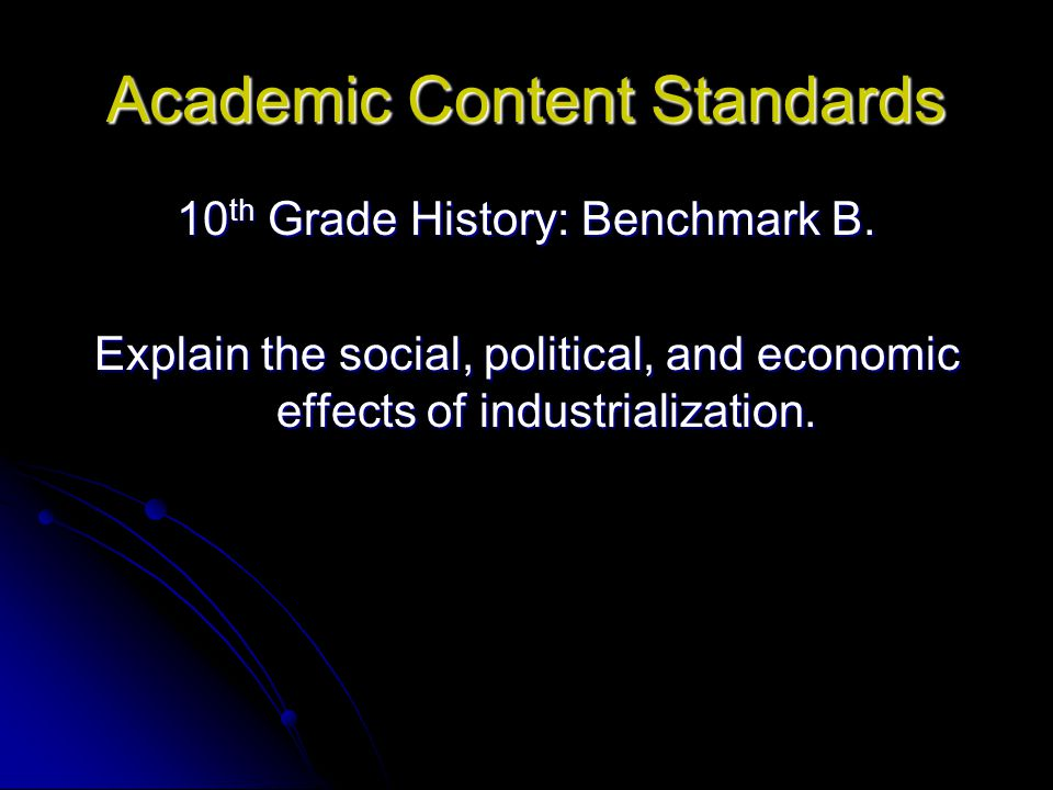 Academic Content Standards