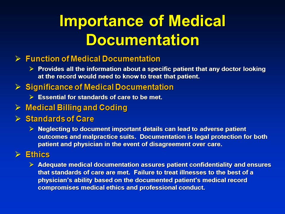 Importance of Medical Documentation