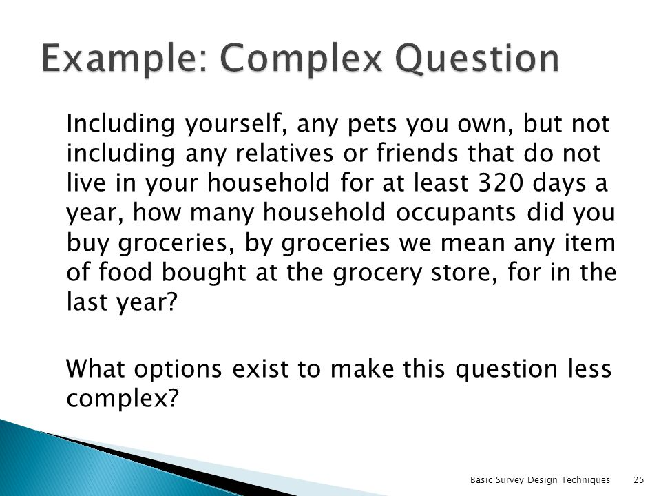 Example: Complex Question