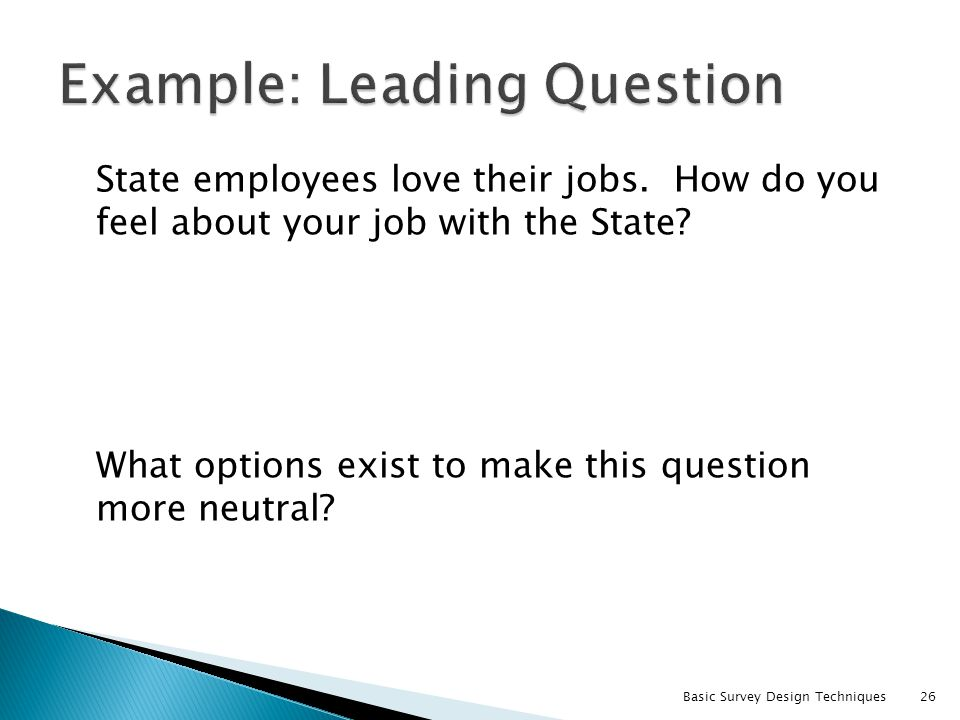 Example: Leading Question