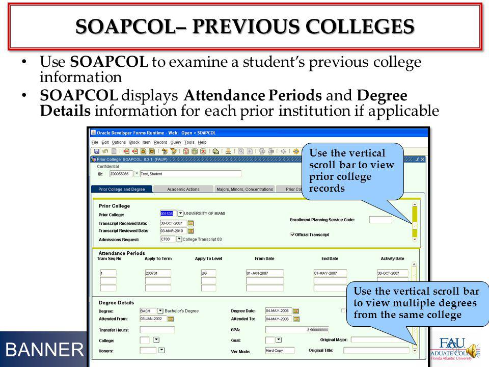 SOAPCOL– Previous Colleges
