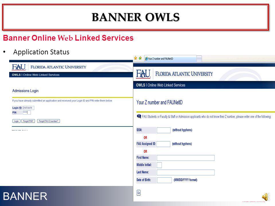 Banner owls BANNER Banner Online Web Linked Services