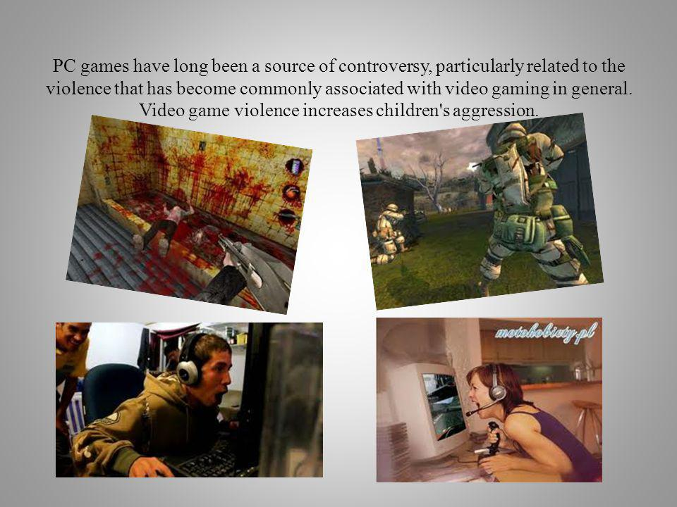 PC games have long been a source of controversy, particularly related to the violence that has become commonly associated with video gaming in general.
