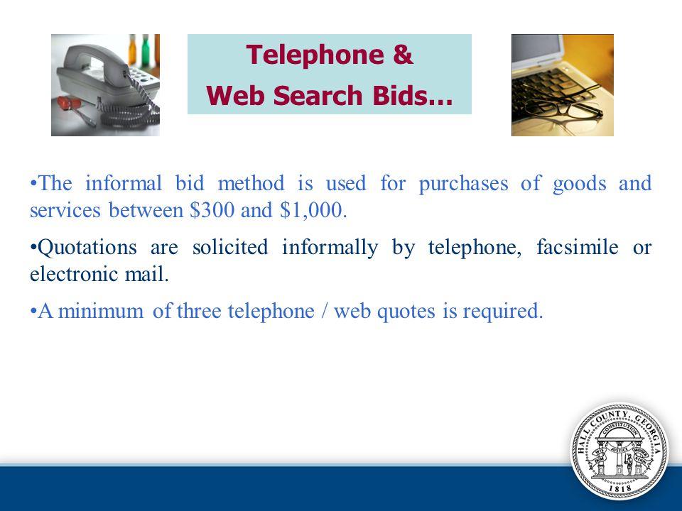 Telephone & Web Search Bids…