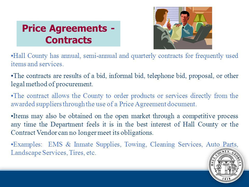 Price Agreements - Contracts