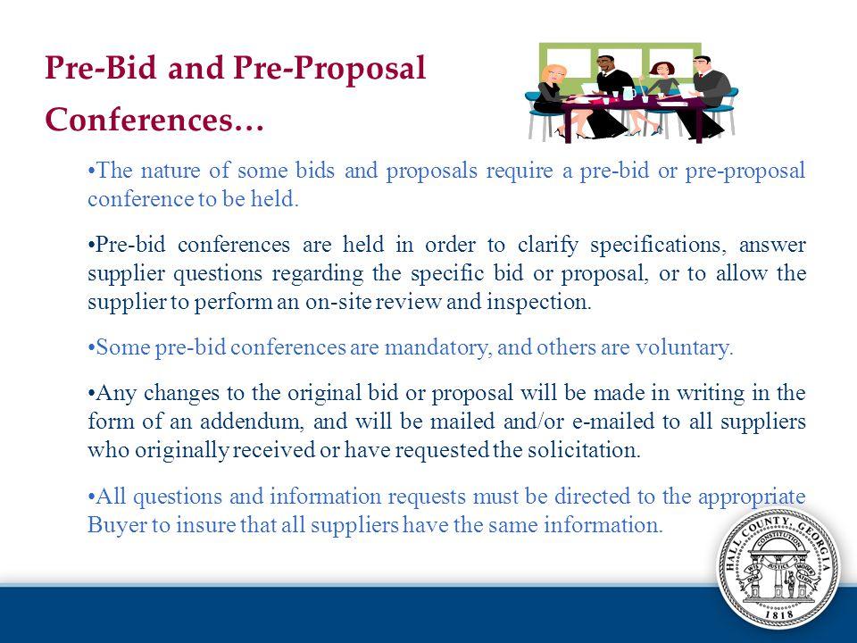 Pre-Bid and Pre-Proposal Conferences…