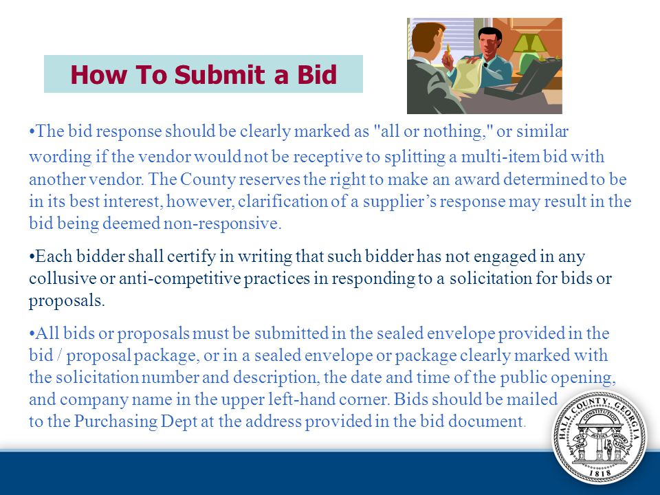 How To Submit a Bid