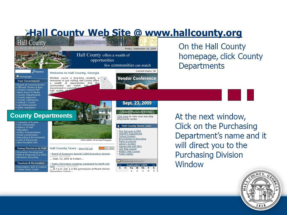 Hall County Web Site @ www.hallcounty.org