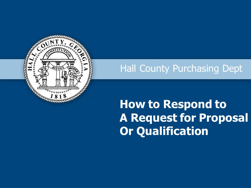 How to Respond to A Request for Proposal Or Qualification