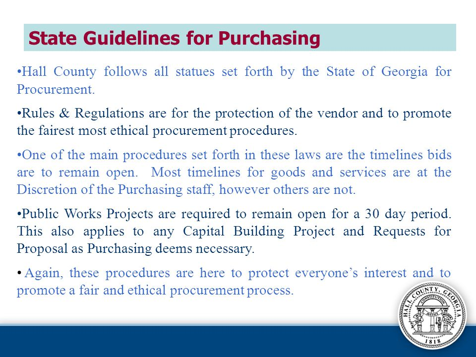 State Guidelines for Purchasing