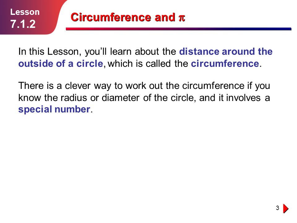 Lesson 7.1.2. Circumference and p.