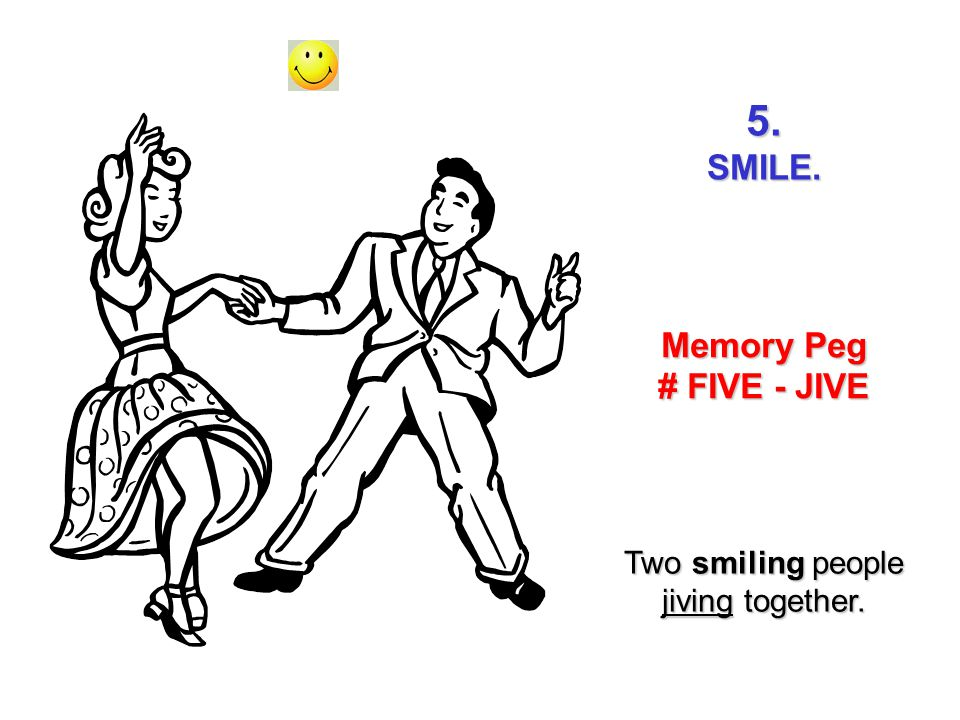 Two smiling people jiving together.