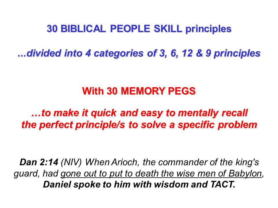 30 BIBLICAL PEOPLE SKILL principles