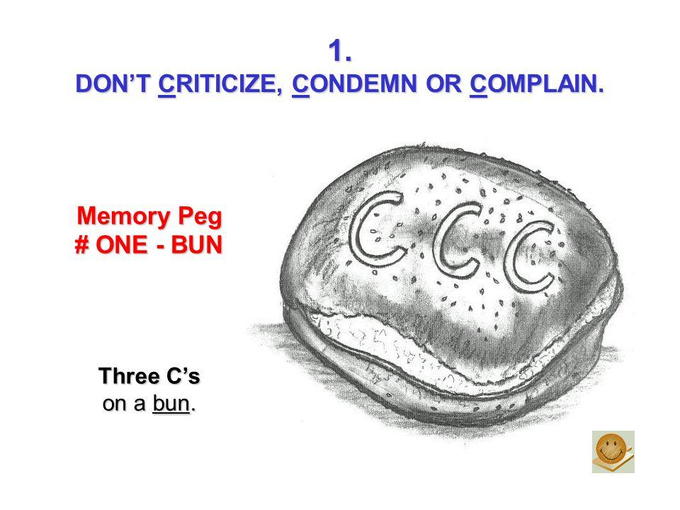 DON'T CRITICIZE, CONDEMN OR COMPLAIN.