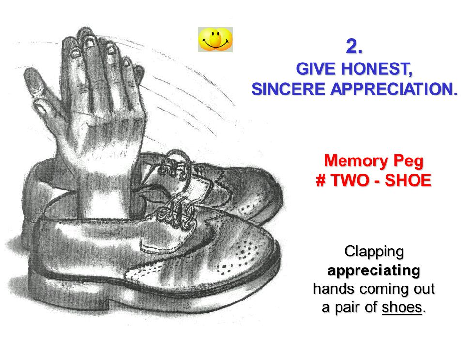 Clapping appreciating hands coming out a pair of shoes.