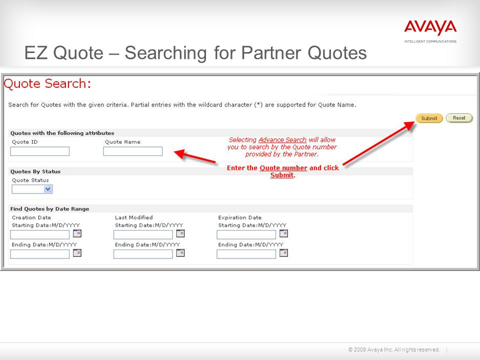 EZ Quote – Searching for Partner Quotes