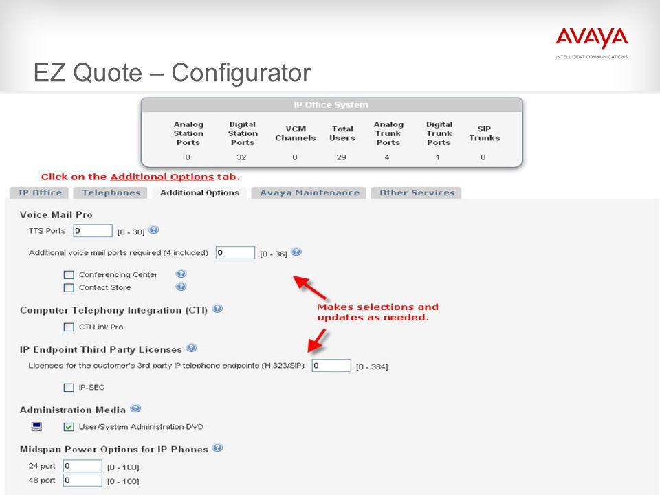 EZ Quote – Configurator