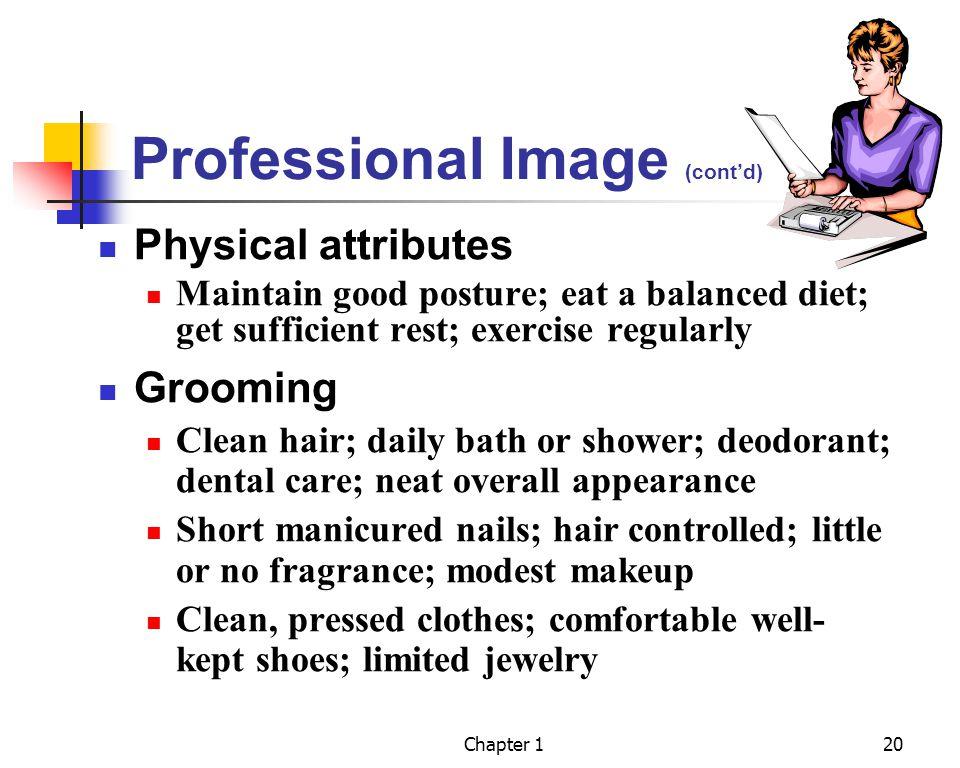 Professional Image (cont'd)
