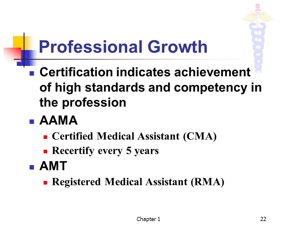 Professional Growth Certification indicates achievement of high standards and competency in the profession.