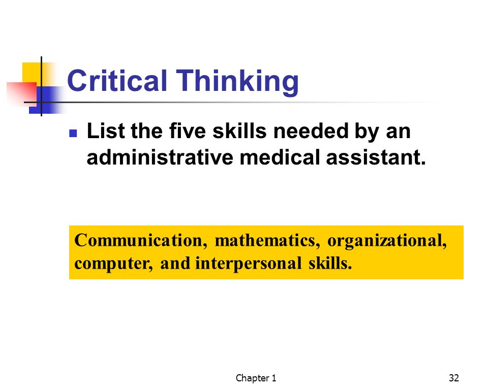 critical thinking skills list