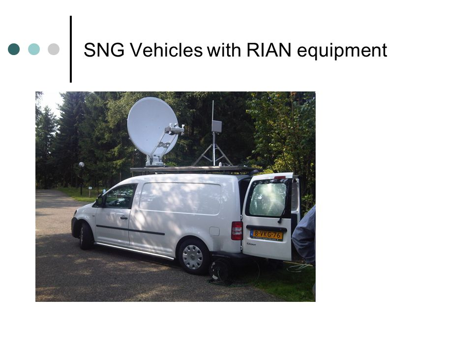 SNG Vehicles with RIAN equipment