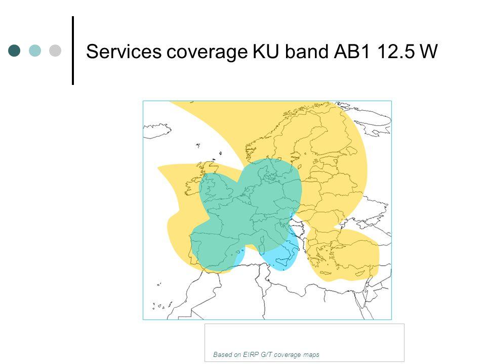 Services coverage KU band AB1 12.5 W