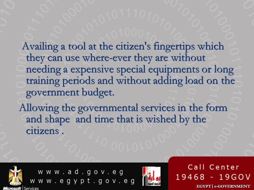 Availing a tool at the citizen s fingertips which they can use where-ever they are without needing a expensive special equipments or long training periods and without adding load on the government budget.