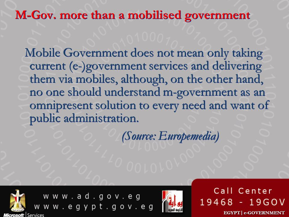 M-Gov. more than a mobilised government
