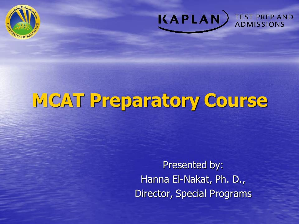 MCAT Preparatory Course