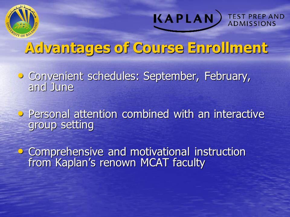 Advantages of Course Enrollment