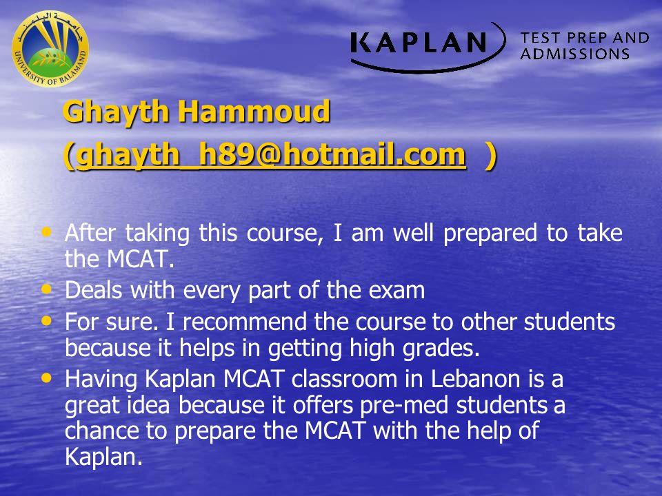 Ghayth Hammoud (ghayth_h89@hotmail.com )