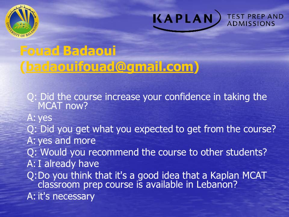 Fouad Badaoui (badaouifouad@gmail.com)