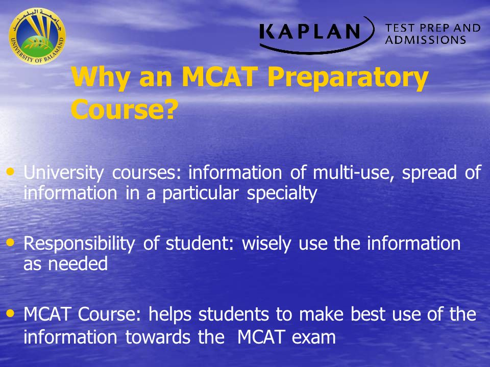 Why an MCAT Preparatory Course