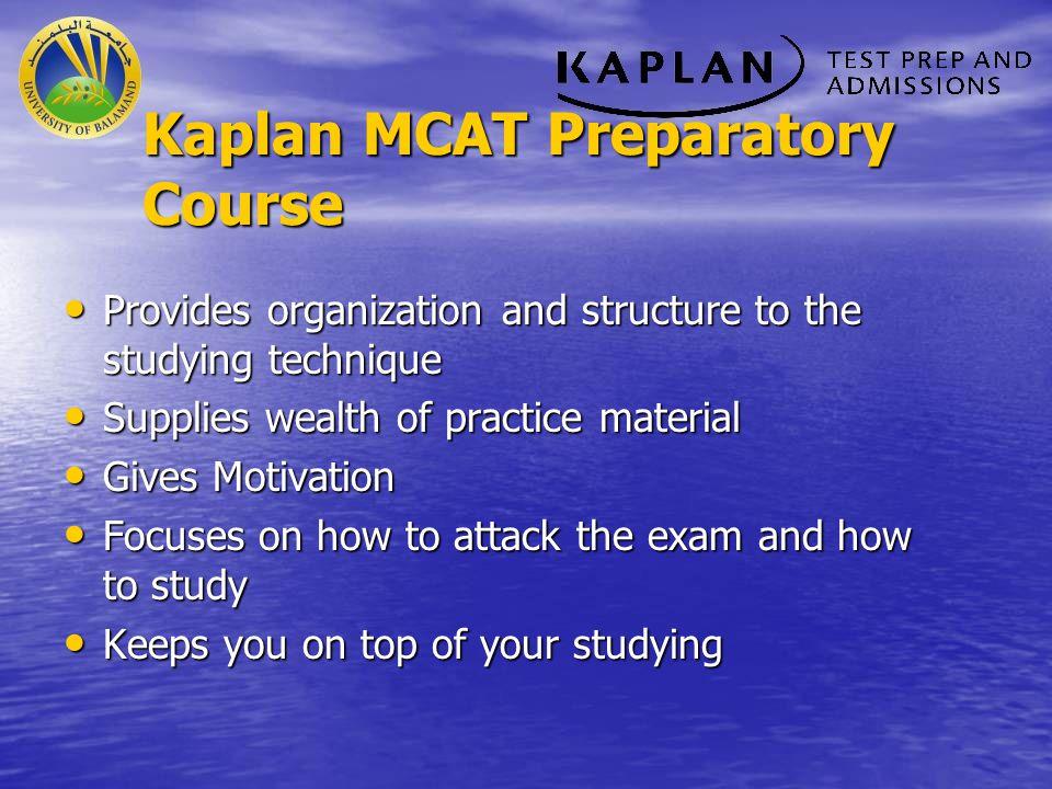 Kaplan MCAT Preparatory Course