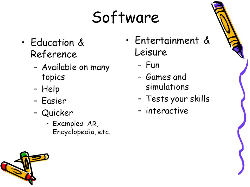 Software Entertainment & Leisure Education & Reference Fun