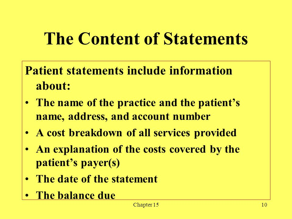 The Content of Statements