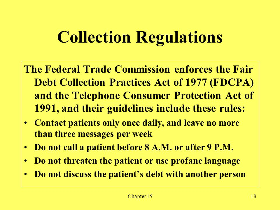 Collection Regulations