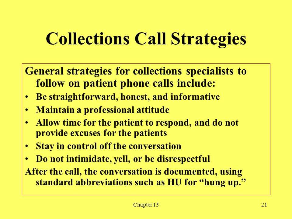 Collections Call Strategies