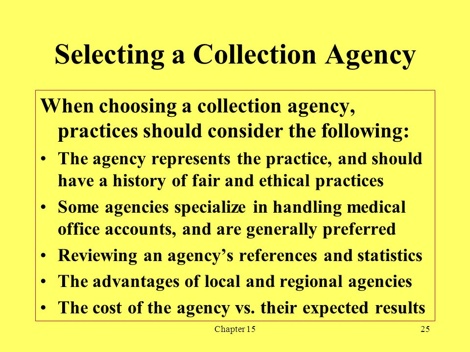 Selecting a Collection Agency