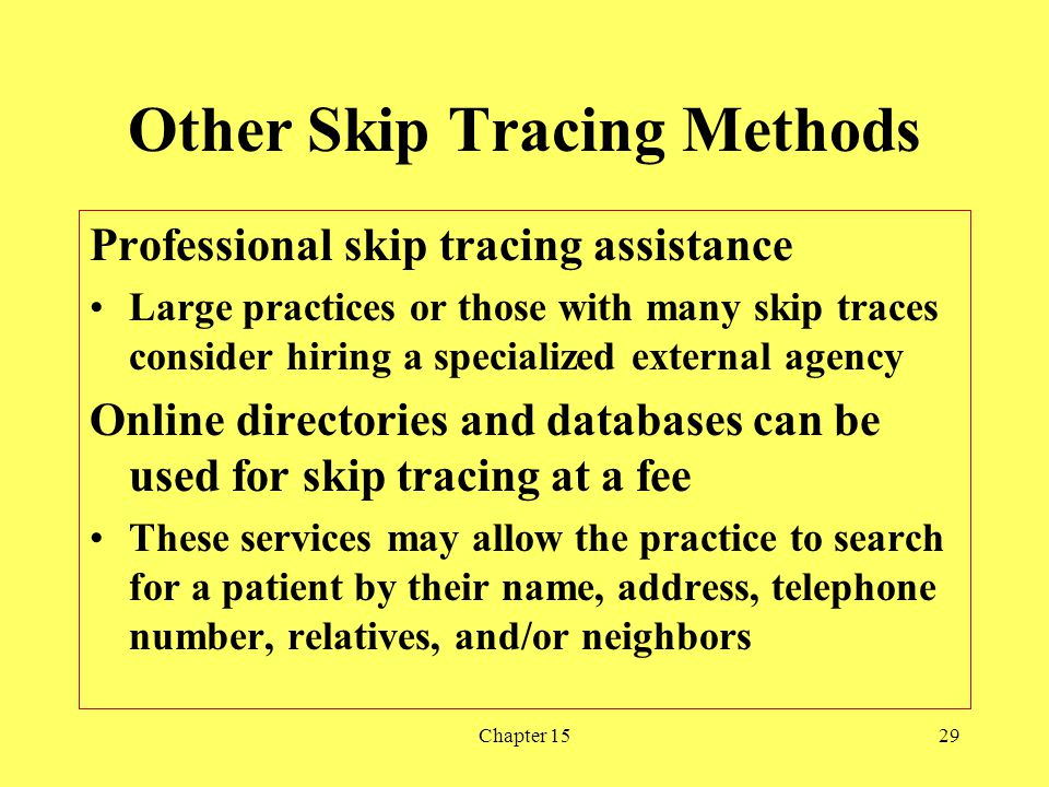 Other Skip Tracing Methods