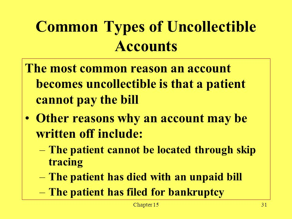 Common Types of Uncollectible Accounts