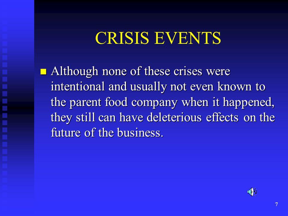 CRISIS EVENTS